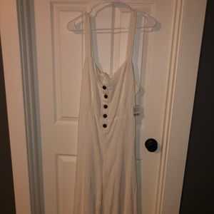 White Button Tie-Back Urban Outfitters Jumpsuit!!